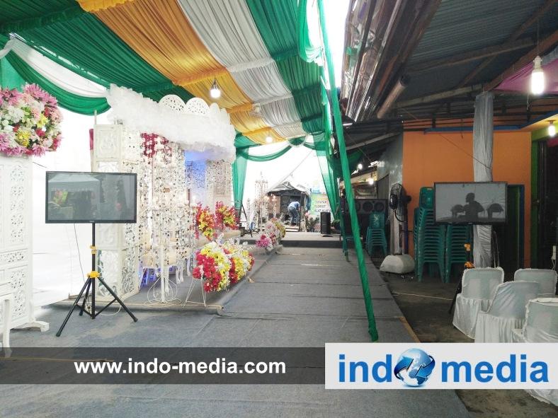 Hasil gambar untuk gambar sewa tv wedding indomedia medan